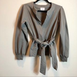 TLA Green Belted Open Front Cardigan
